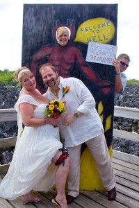 Lucky Wedding Day in Hell for Rice Lake, WI Couple