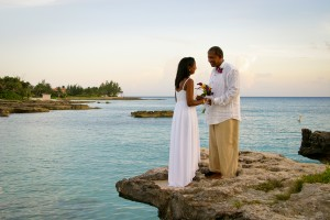 Ricky and Veronica's sunset wedding at Smith's Cove