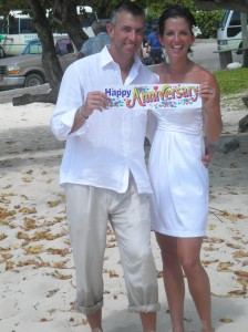wedding blessing at Blue Water Beach