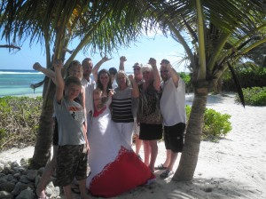 Las Vegas group at Cayman wedding