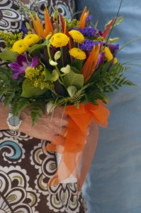 Tropical bouquet for Cayman wedding