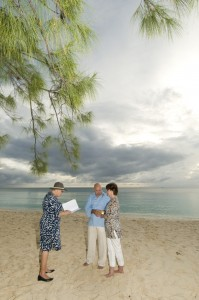 beach vow renewal on Seven Mile Beach, Grand Cayman