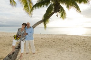 romantic vow renewal, Seven Mile Beach, Grand Cayman