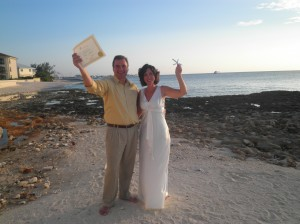 We did it on our Grand Cayman Vow renewal