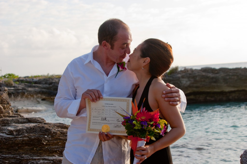 From Tokyo to Cayman for a Simple Beach Wedding - image 3