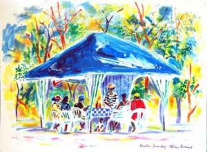 Original Paintings of Your Cayman Wedding from artist John Broad and Simply Weddings - image 2