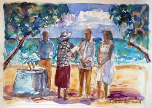 Original Paintings of Your Cayman Wedding from artist John Broad and Simply Weddings - image 1
