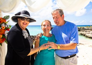Attorneys wed inThanksgiving beach wedding - stunning Grand Cayman views