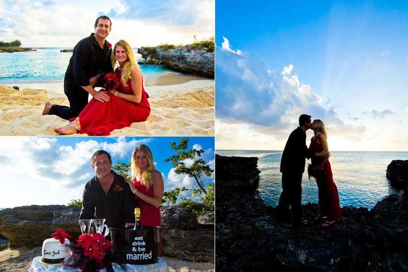 Red Roses, Blue Water at this Grand Cayman Beach Wedding - image 3