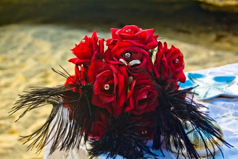 Red Roses, Blue Water at this Grand Cayman Beach Wedding - image 2