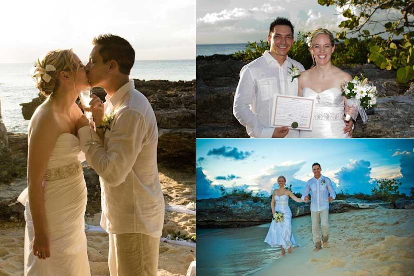 Canada-Cayman Connection for this Sunset Beach Wedding - image 1