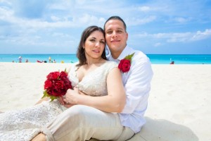 Valentine's Day Wedding on Seven Mile Beach, one of the World's Top Beaches