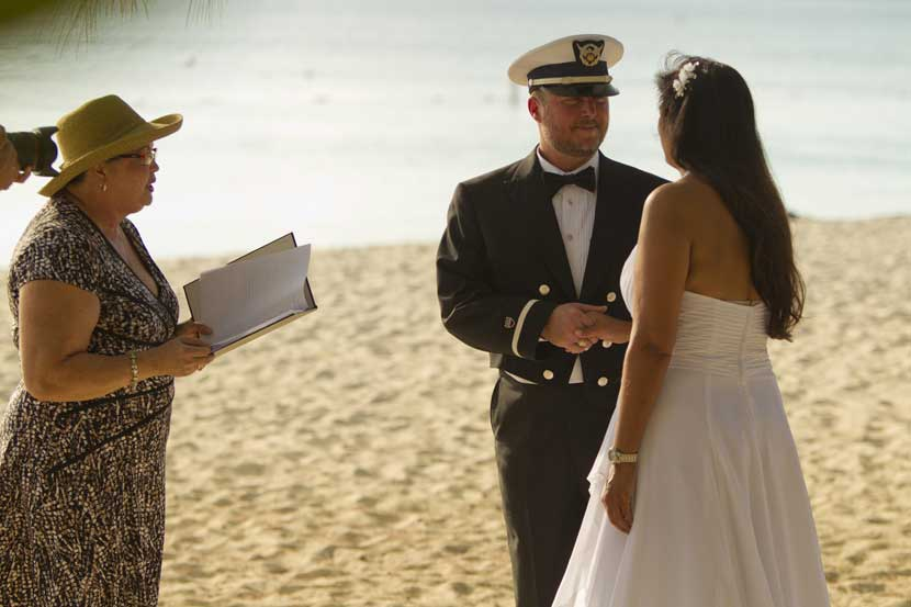 Governor's Beach , Grand Cayman, such a simple wedding location - image 1